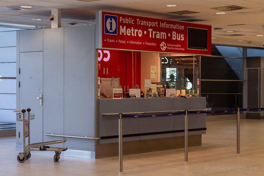 Photo of the Counter of Prague Public Transport at the airport
