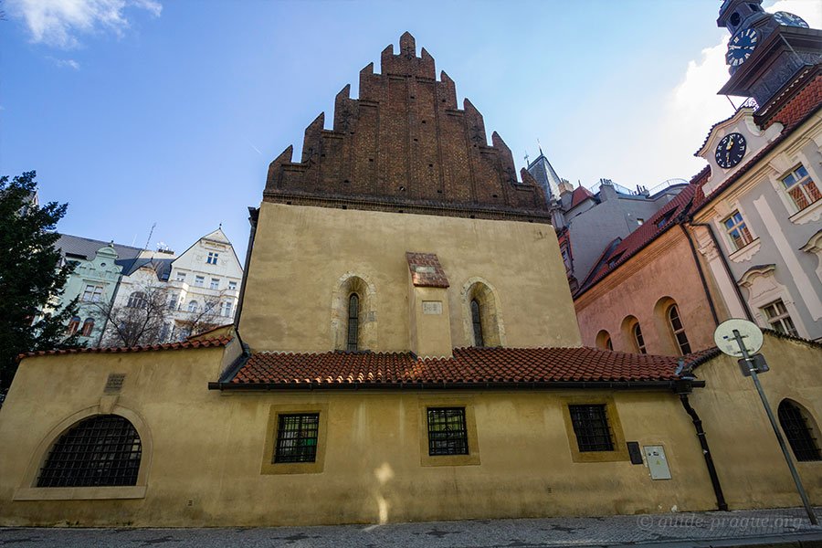 Photo of Old New Synagogue in the Jewish Quarter, Prague