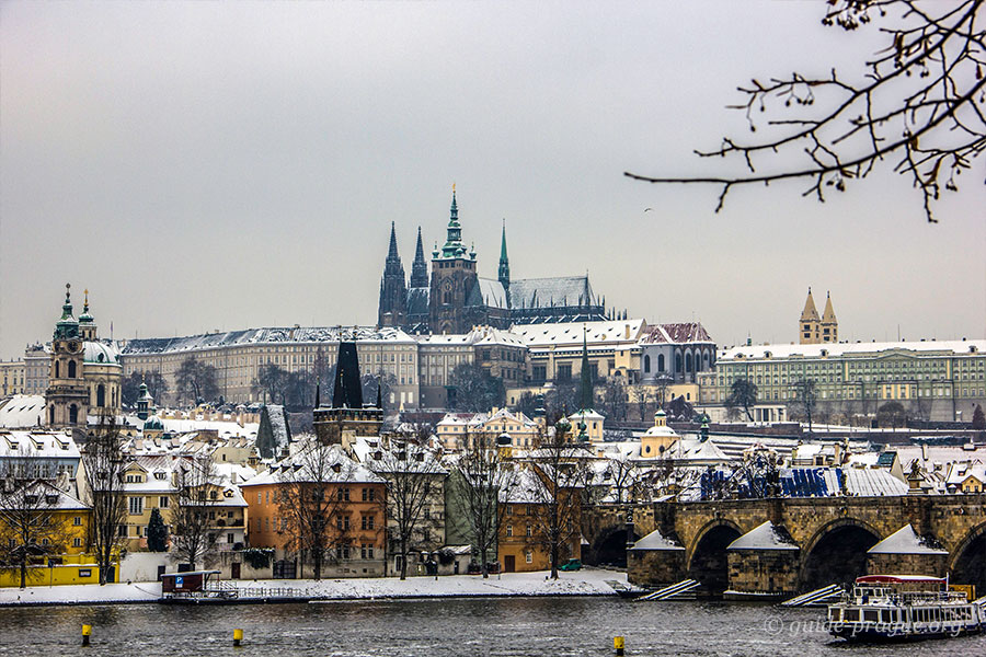 Photo of Prague Castle and the Lesser Town in Winter